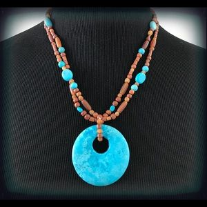 Coldwater Creek Boho Chic Turquoise Necklace